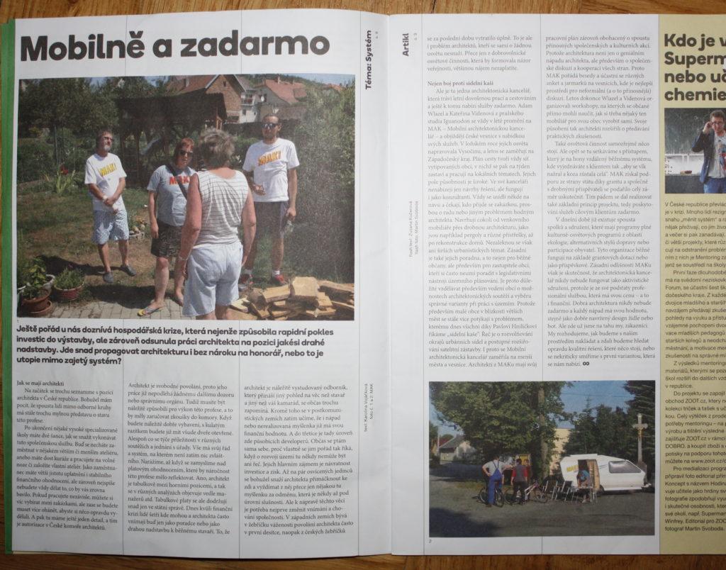 časopis Artikl / Mobilně a zadarmo / 24-09-2016
